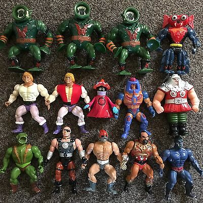 Masters Of The Universe. Lot Of 14 Loose Vintage Figures. Motu He-Man