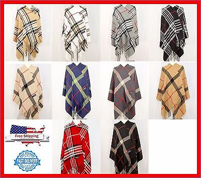 LARGE Blanket 28X80 SCARF 100% Cashmere Stole Shaw Wrap Scotland Wool Warm THICK