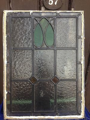 Vintage Retro Art Deco Stained Glass Leaded Window Panel