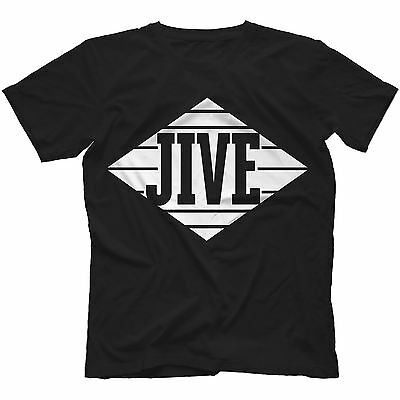 Jive Records T-Shirt 100% Cotton A Tribe Called Quest Krs-One R.Kelly Aaliyah