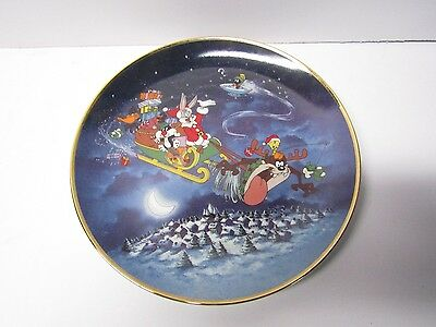 Vintage Looney Tunes What's Up Santa? Limited Edition Plate - Franklin Mint