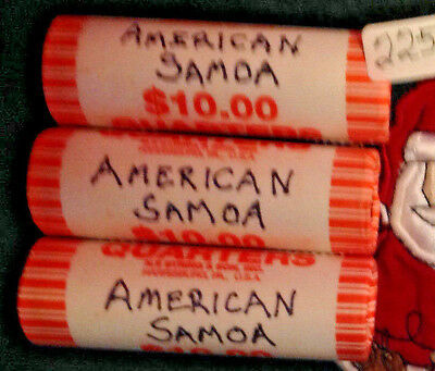 2009-P Amer Soma Territorial Quarter Roll BU -ONE ROLL FROM LOT SHOWN Item225a