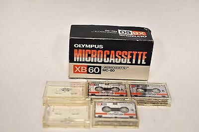 3 x Olympus XB60  Dictaphone Tapes, Micro Cassettes. Microcassettes