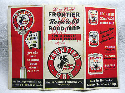 Antique Frontier Gas Oil Station Road Map