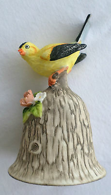 Decorative Towle, Fine Bone China Bell with Yellow Bird