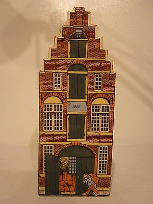 DELFT BLUE handpainted Amsterdam Canal House Money Box BANK 021689