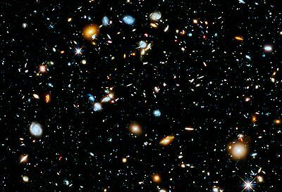 Hubble Ultra Deep Field Hi Gloss Space Poster Fine Art Print