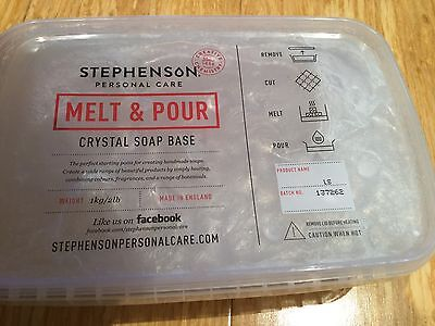 Melt And Pour Low Sweat Transparent Crystal Soap Base For Soap Making 1kg