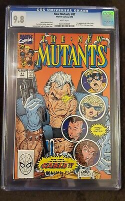 The New Mutants 87 CGC 9.8 1st Print First Appearance of Cable & Stryfe