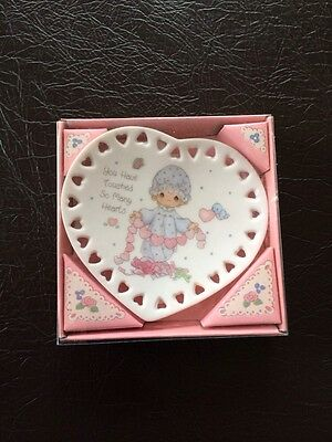 "Precious Moments Collectible Plate ""You Have touched So Many Hearts"" 3 1/4"""