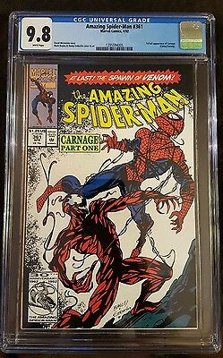 Amazing Spider-Man 361 CGC 9.8 1st Print First Carnage Appearance