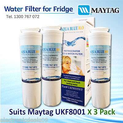 3x Amana Maytag Kenmore Jenn-Air Fridge Water Filter UKF8001AXX 46-9006 30-9MT