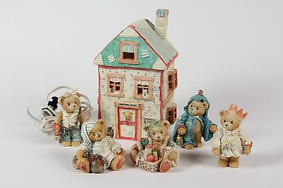 REDUCED Cherished Teddies COMPLETE Christmas Carol set - 2 buildings & ALL bears
