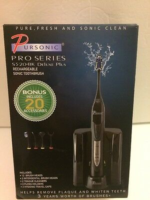 PURSONIC S520 Black Ultra High Powered Sonic Electric Toothbrush