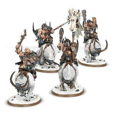 Warhammer Age of Sigmar Beastclaw Raiders Mournfang Pack New