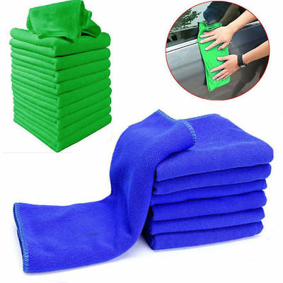10x Microfiber Cleaning Detailing Cloths Wash Duster Towels Auto Car Soft Rag