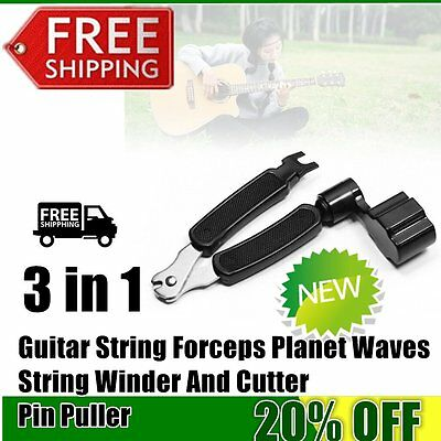 3 in 1 Guitar String Forceps Planet Waves String Winder And Cutter Pin Puller KK