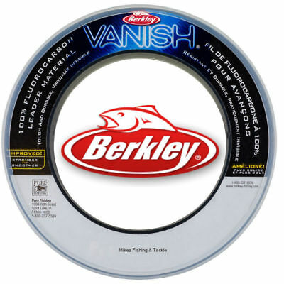 Berkley Vanish 100% Fluorocarbon Leader 50lb x 30yds Fishing Line fluro carbon
