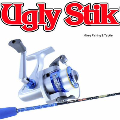 UGLY STIK TACKLERATZ FISHING ROD / REEL COMBO 4 KIDS - Colour BLUE Tackle Ratz
