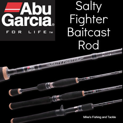 "Abu Garcia Salty Fighter 5'6"" 1pc 6-8kg Baitcast Fishing Baitcaster Rod"