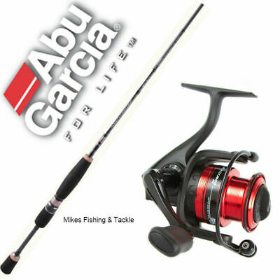 "Abu Garcia Salty Fighter 6'6"" 3-5 Kg 1pc Fishing Rod Black Max 40 Reel Combo"