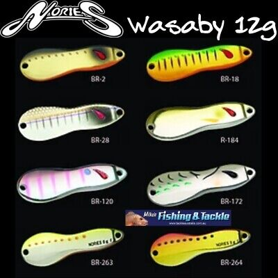 Nories Wasaby Metal Jigging Spoon 12g Jig - Choose Your Colour Wasabi