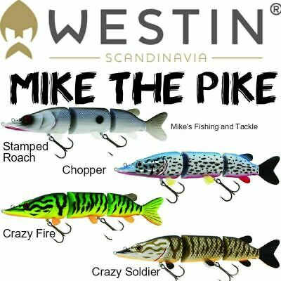 Westin Mike the Pike HB/SB 22cm Hybrid Soft Plastic Pre Rigged Lure - 1 lure