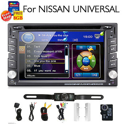 """6.2"""" Double 2 DIN Car DVD Player Stereo for Nissan universal GPS BT CD Radio+CAM"""