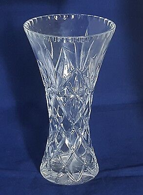 Beautiful Large Heavy Cut Glass Crystal Vase