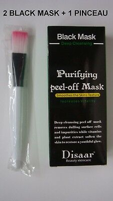 masque Charbon purifiant Peeling black mask Anti Acné& Point Noir pinceau masque
