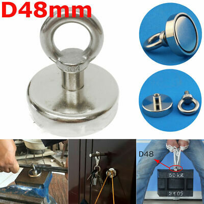 14/23/57/60/90KG Metal Recovery Strong Magnet Hook Detector Sea Hunting Fishing