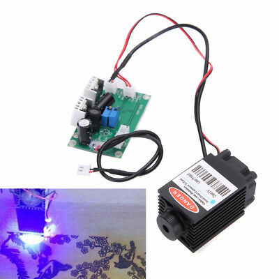 Focusable High Power 2.5W 450nm Blue Laser Module w/ TTL 12V Input Wood Carving