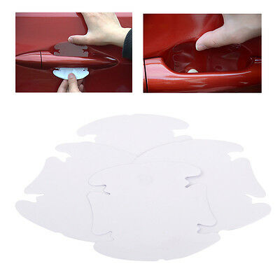 4pcs Invisible Clear Car Door Handle Protector Anti-Scratch Guard Cover Sticker