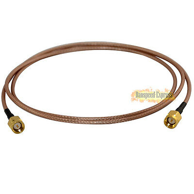 SMA Male to SMA Male RF Coaxial Jumper Pigtail WLAN Adapter Cable Lead RG316 3m