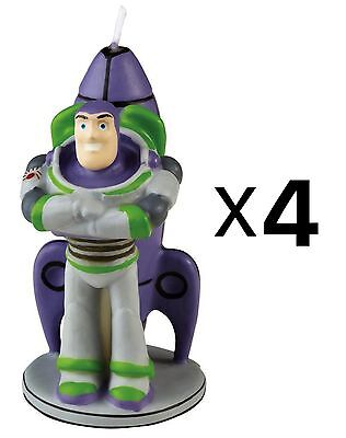 Wilton Disney Pixar Toy Story Birthday Cake Candle Buzz Lightyear (4-Pack)
