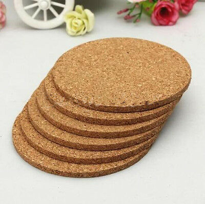 6pcs Cup Mat Cork Tea Coffee Drink Coasters Placemats Soft Mood Tablemats Round