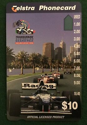 No Holes - $10 Telstra Transurban Australian Grand Prix Melbourne 1996 Phonecard