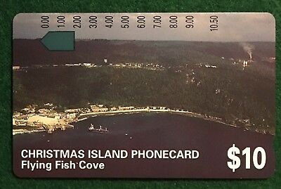 No Holes - $10 Telstra Christmas Island Phonecard Flying Fish Cove