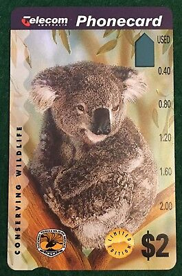 No Holes - $2 Telecom Conserving Wildlife Phonecard