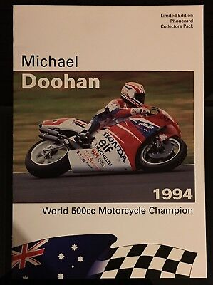 MICHAEL DOOHAN 1994 World 500cc Motorcycle Champion TELECOM $20 PHONECARD PACK