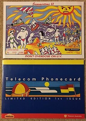 The Surf Lifesaving Assoc Of Australia & Summertime II TELECOM PHONECARD PACKS
