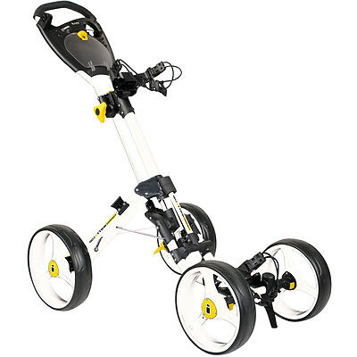 2017 Compact Masters iCart One Quattro 4 Wheel One Push Trolley White/Black