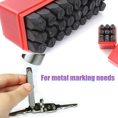 NEW Stamps Letters Alphabet And Numbers Set Punch Steel Metal Tool Case Craft