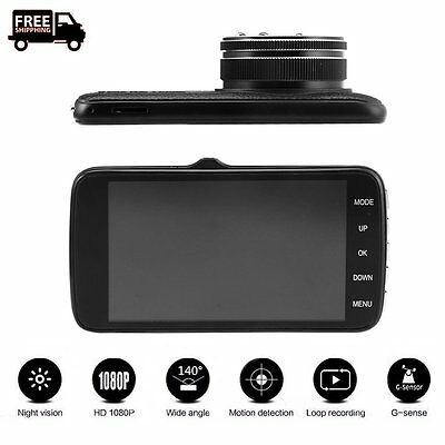 HD 1080P G-sensor Car DVR  Video CAM Recorder GPS Logger Night Vision EW