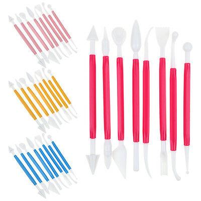 8Pcs Clay Pottery Fondant Sugarcraft Cake Sculpting Shapers Molding Tool Kids