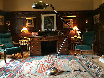 Fabulous Art Deco Style Floor Lamp Side Light Angle Poise Chrome Very Tall