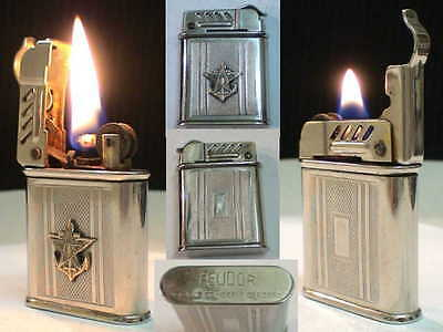 Briquet Ancien FEUDOR Militaire Indochine ? Vintage Lighter Feuerzeug Accendino