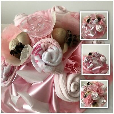 New Baby Girl Bouquet Online Flowers Free Delivery Birth Flower Gift Socks Dummy