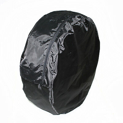 """Ø 24.8"""" x 8.2"""" Black Car Spare Wheel Storage Carry Tyre Bag Protection Cover"""