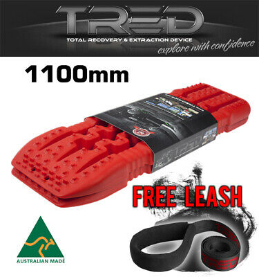 Tred Tracks Recovery Offroad Board 1100 Mm 4X4 4Wd Mud Treds Red